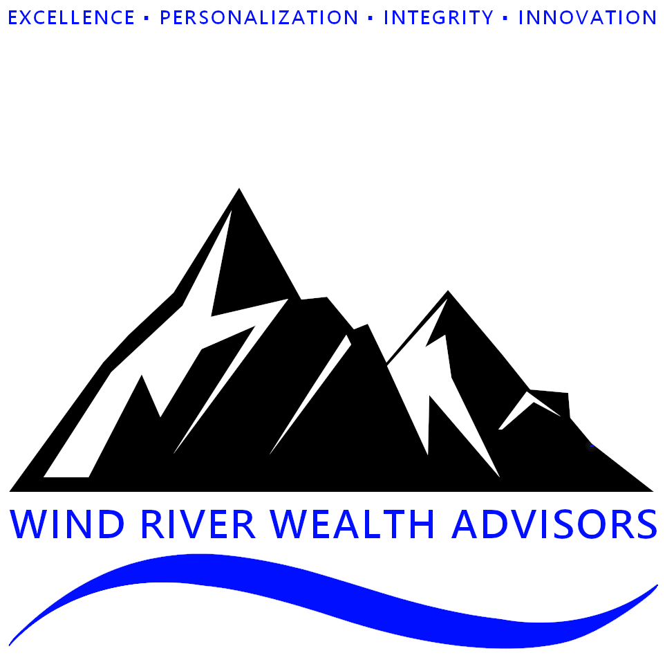Logo For Wind River Wealth Advisors, excellence, personalisation, integrity, innovation