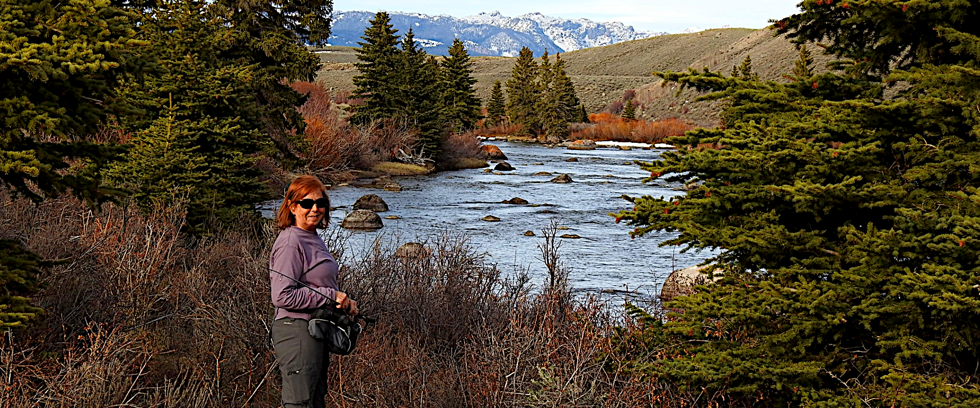 Wendy nelson CEO of Wind River Wealth Advisors, who's services include, portfolio management, asset management, investment management, wealth management, retirement planning, and financial planning relaxes as she fly fishes in Colorado and Wyoming